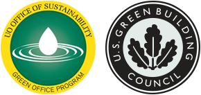UO Office of Sustainability - Green Office Program and U.S. Green Building Council LEED Platinum Seals
